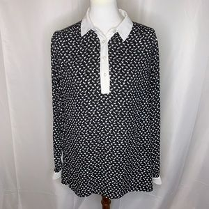 Free People Horse Print Blouse, Size Large